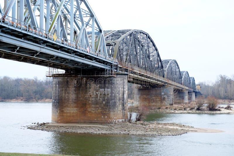 Eisenbahnbrücke, im Freien lizenzfreies stockbild