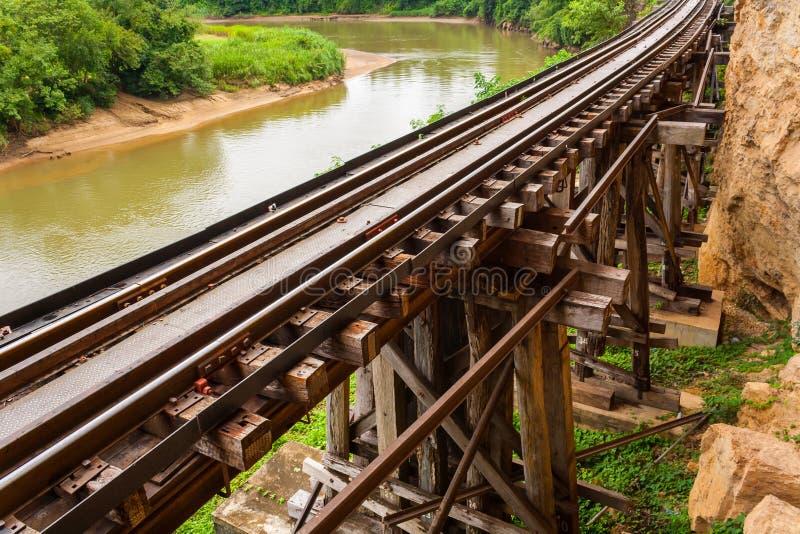 Eisenbahnbrücke tham krasae. stockfoto