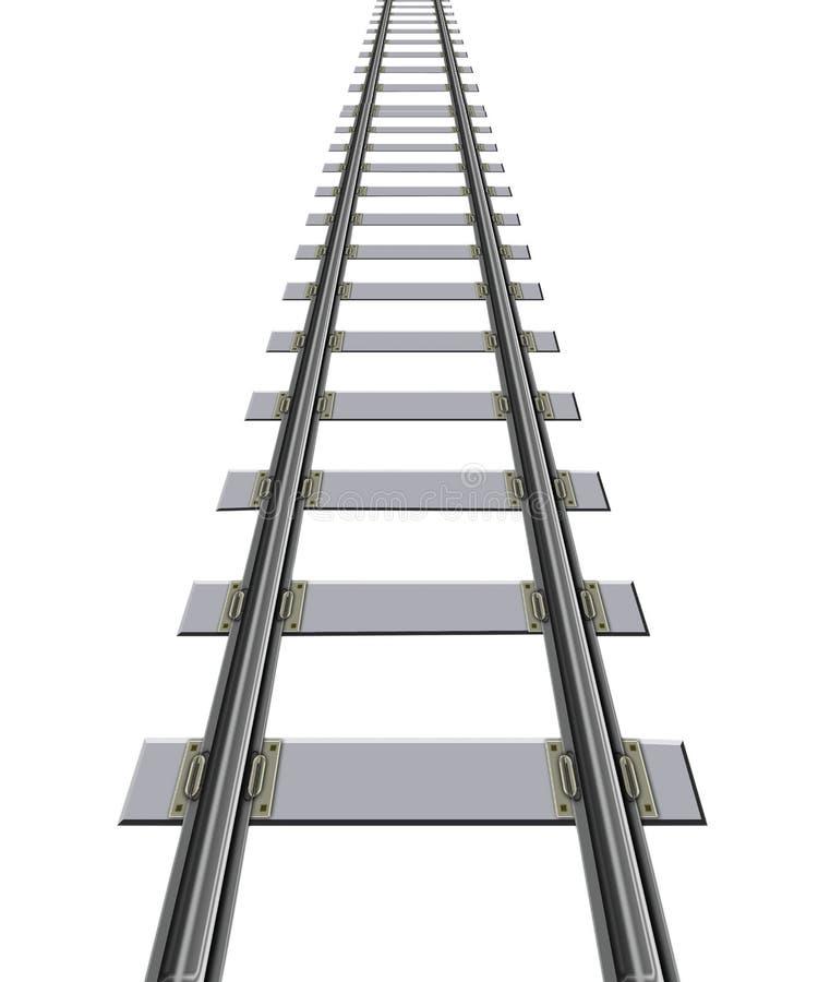 Eisenbahnlinie vektor abbildung
