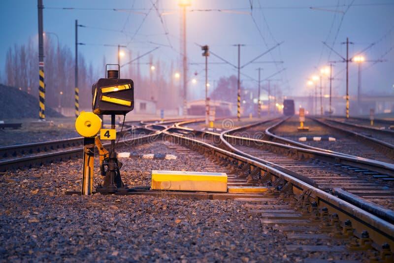 Eisenbahnlinie-Schalter lizenzfreie stockfotografie