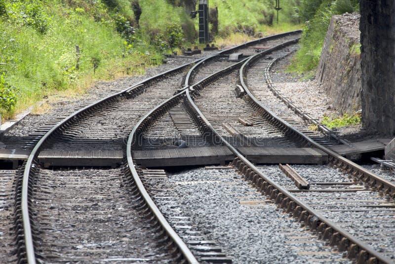 Eisenbahnlinien stockbilder