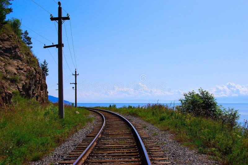 Eisenbahnspur stockfoto
