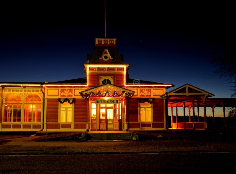 Eisenbahnstation stockfotos