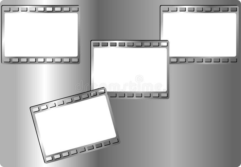 EisenBilderrahmen für Fotos lizenzfreie abbildung