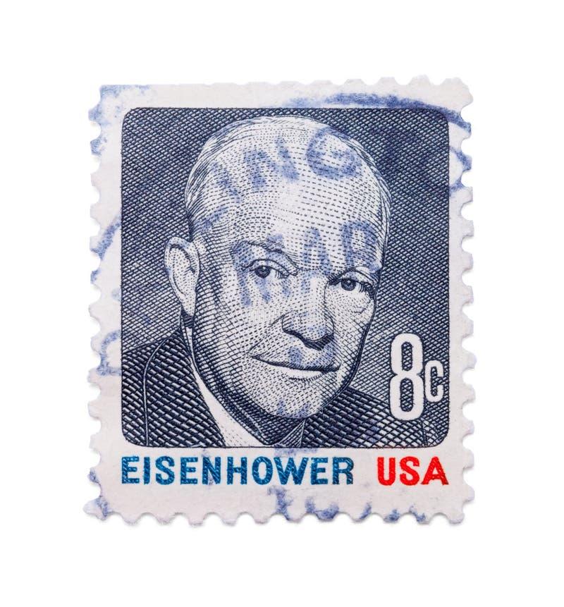 Eisenhower Stamp stock image