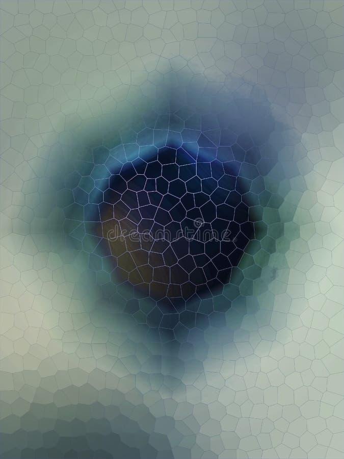 Eisfenster zur Welt lizenzfreies stockbild