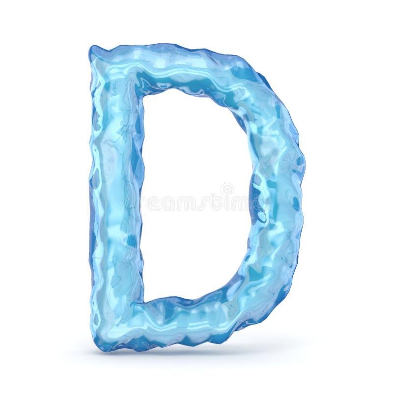 Eisgussbuchstabe D 3D vektor abbildung