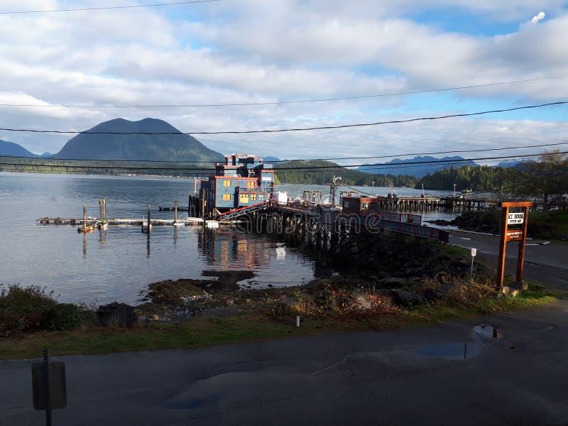 Eishaus auf tofino Bucht stockfotografie