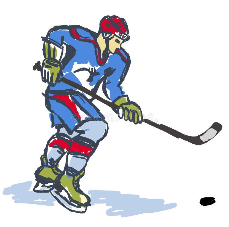 Eishockey-Sportler. stock abbildung