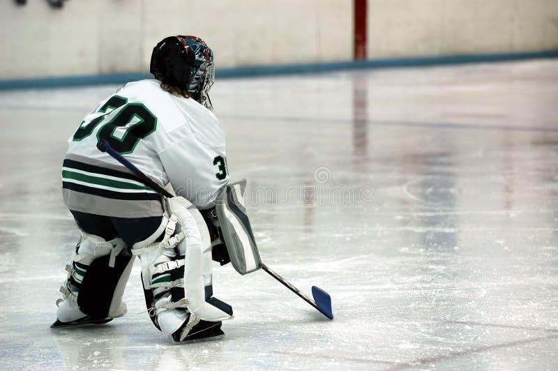 Eishockey-Tormann lizenzfreies stockfoto