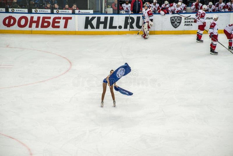 Eishockeycheerleadern lizenzfreie stockfotos
