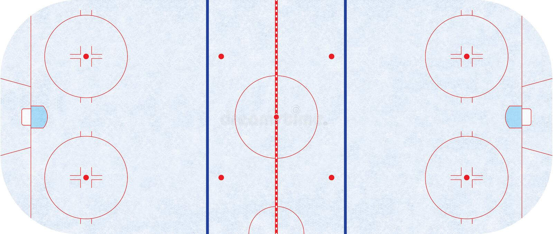 Eishockeyfeld - Regelung NHL stock abbildung