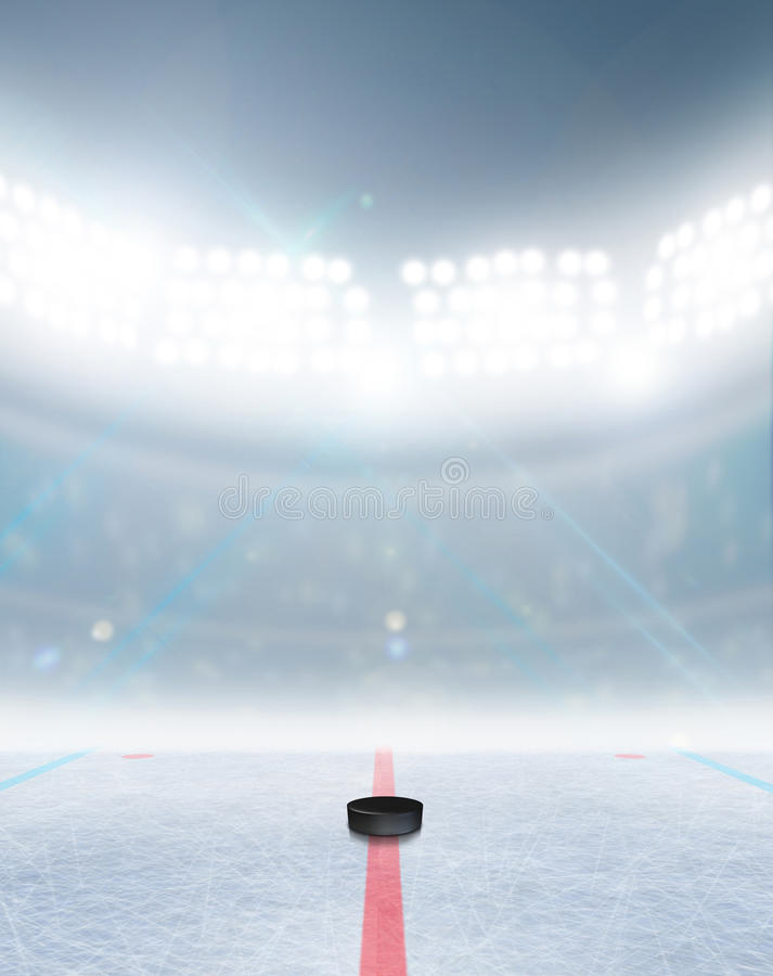 Eishockeyfeld-Stadion lizenzfreies stockfoto