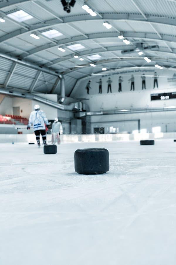 Eishockeyfeldhintergrund lizenzfreie stockbilder