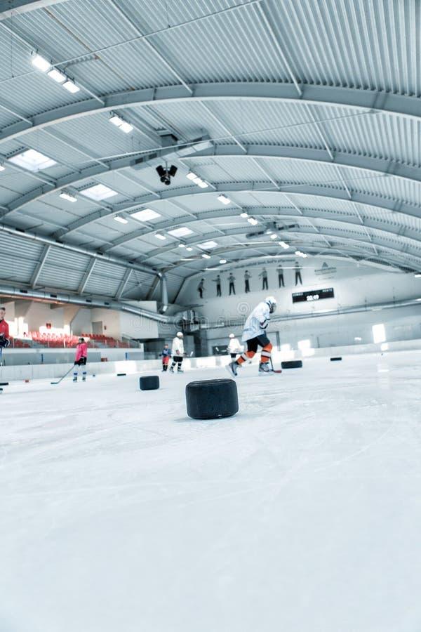 Eishockeyfeldhintergrund stockfotografie