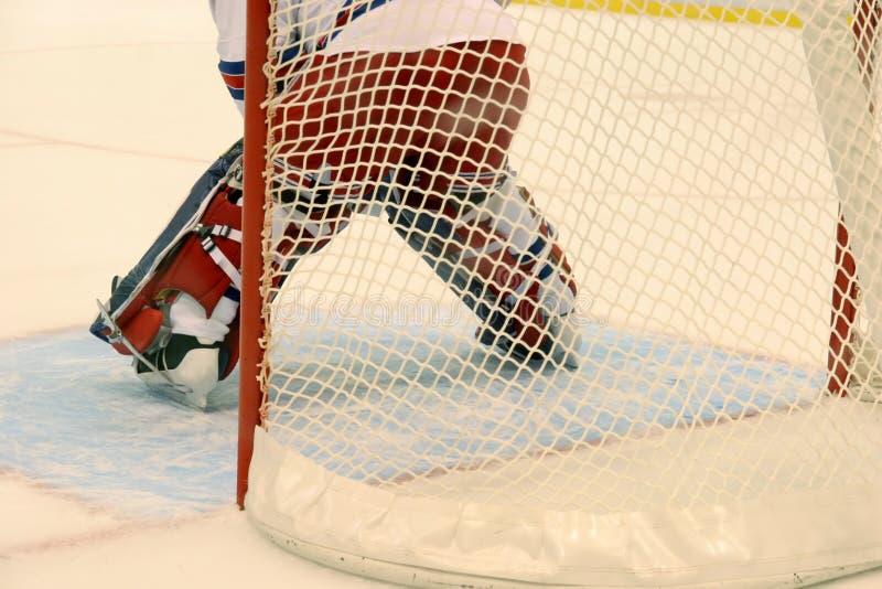 Eishockeypförtner stockbild