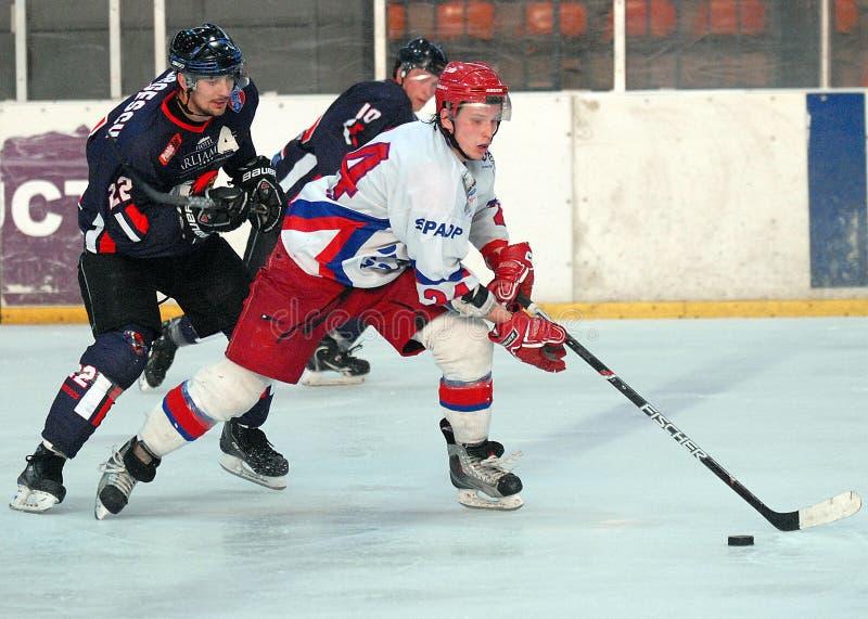 Eishockeyspieler stockfoto