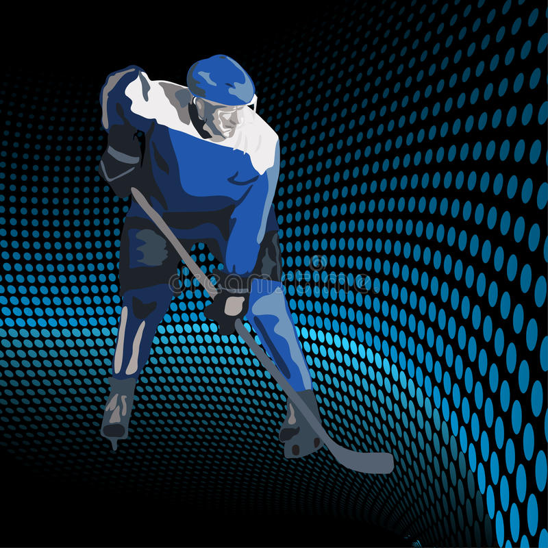 Eishockeyspieler. Vektorabbildung stock abbildung