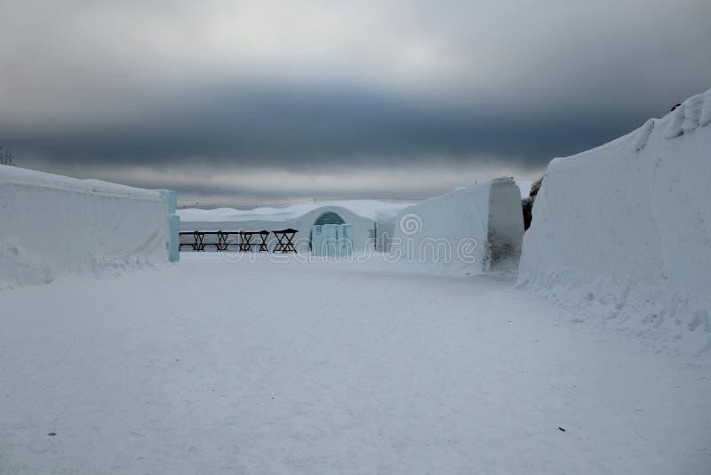 Eishotel lizenzfreie stockfotografie