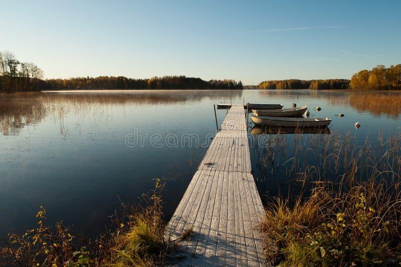 Eisiger Oktober-Morgen stockbild