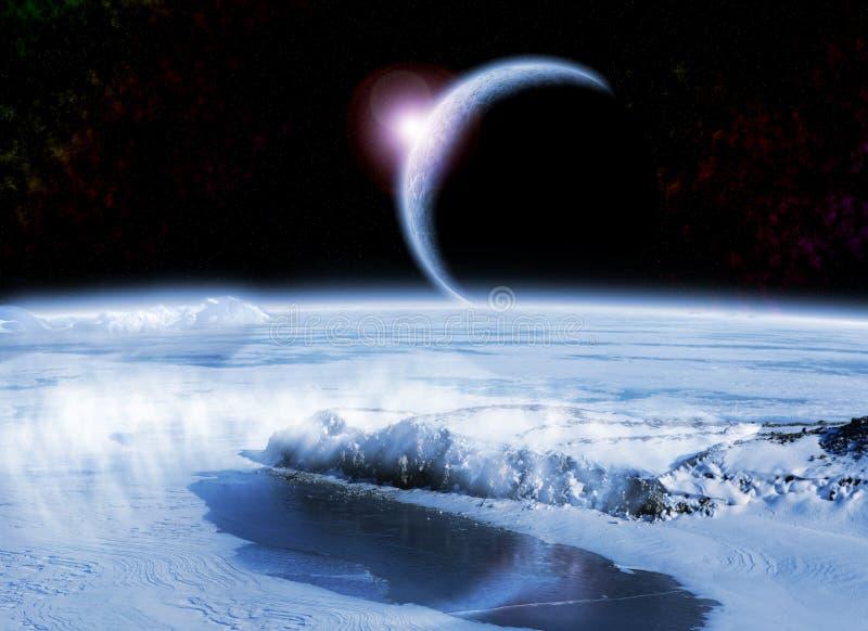 Eisiger Planet lizenzfreie abbildung