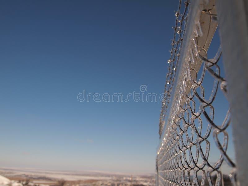 Eisiger Zaun stockbilder