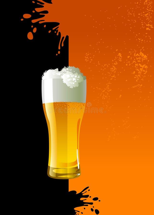 Eisiges Glas helles Bier lizenzfreie abbildung