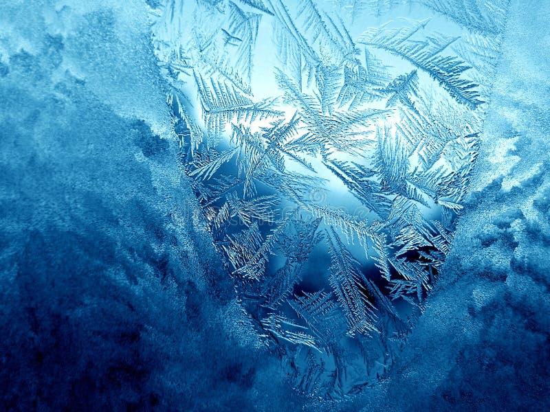 Eisiges Muster stockbilder