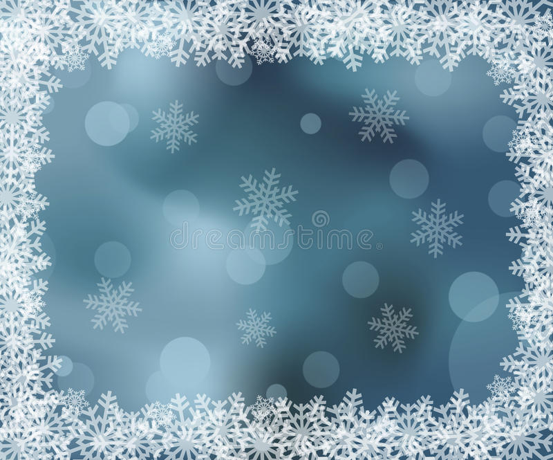 Eisiges Muster auf dem Fenster stock abbildung