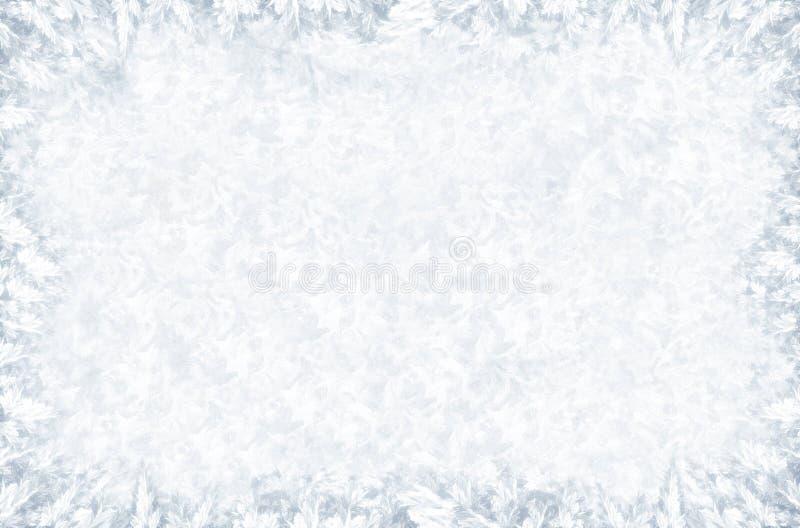 Eisiges Muster auf Winterfenster lizenzfreies stockfoto