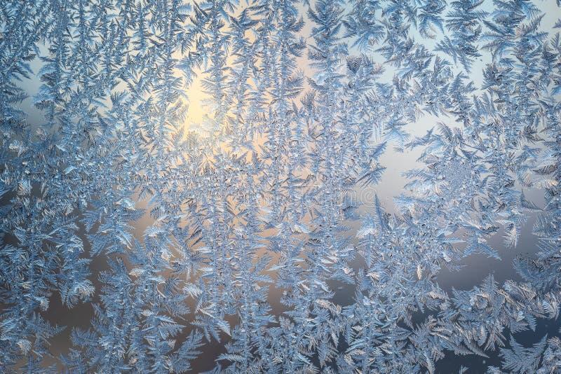 Eisiges natürliches Glasmuster lizenzfreies stockbild