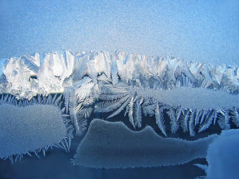 Eisiges natürliches Muster lizenzfreie stockfotografie
