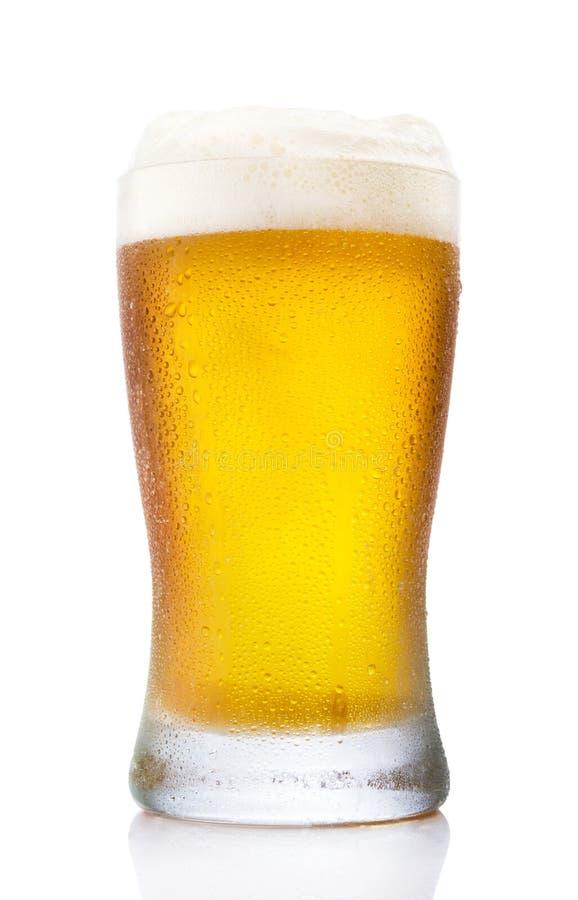 Eisiges Pint-Glas Bier stockfotografie