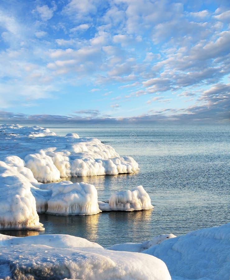 Eisküste 2 stockfotos