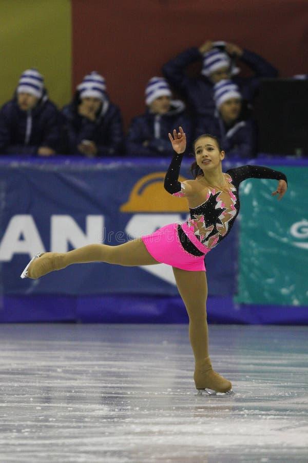 Eiskunstlauf - weiblicher Athlet stockbild