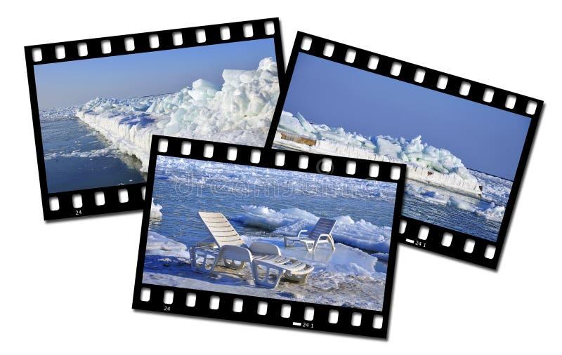 Download Eislandschaft stockfoto. Bild von strand, frost, blau - 26359238