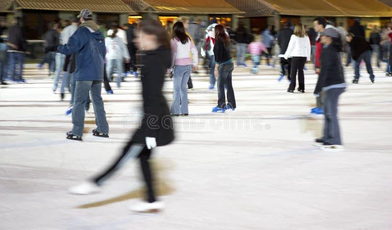 Eislauf am Bryant-Park stockbilder