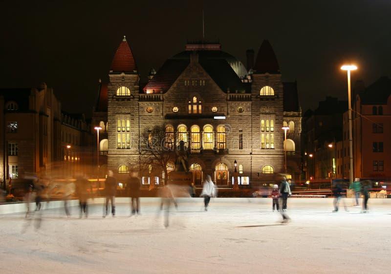 Eislauf in Helsinki stockfotos