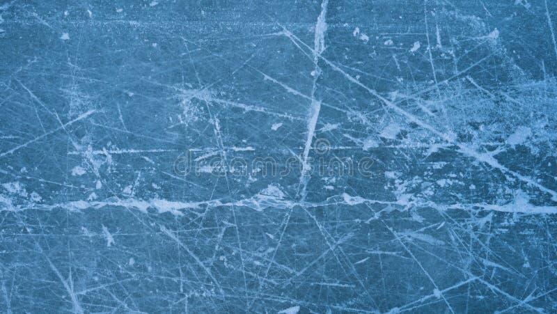 Eislaufbahn mit Schneetextur Natur im Winter lizenzfreie stockfotos