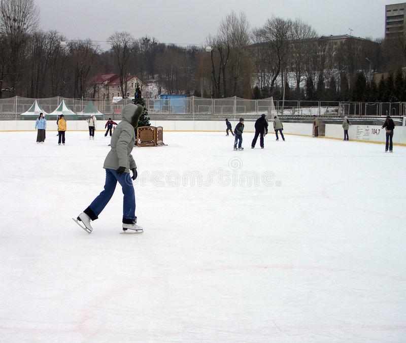 Eislaufenring stockbilder