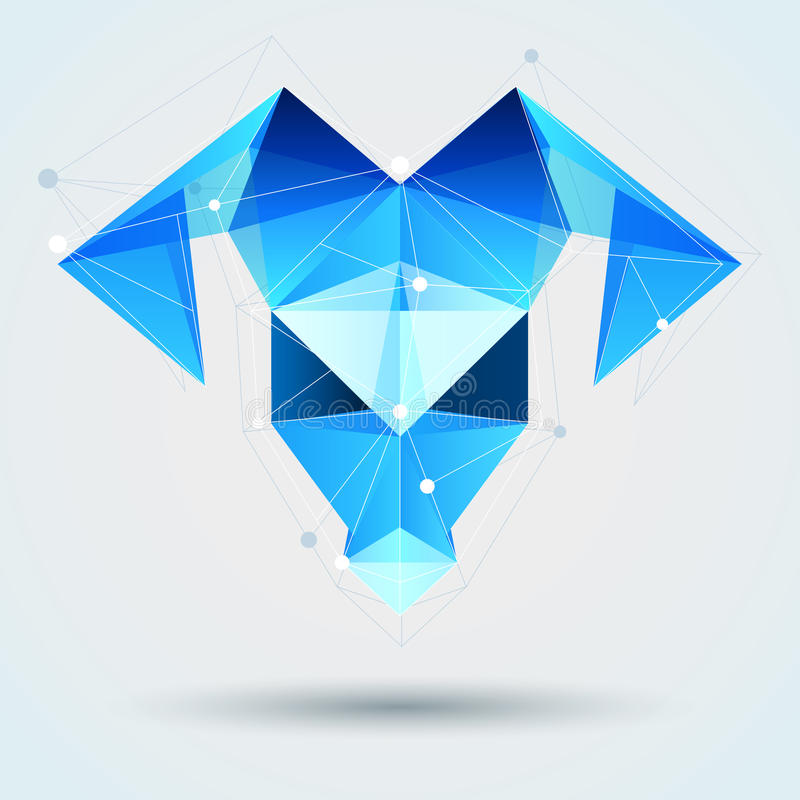 Eismosaikschafe Blaue polygonale Ziege Symbol des neuen Jahres 20 vektor abbildung