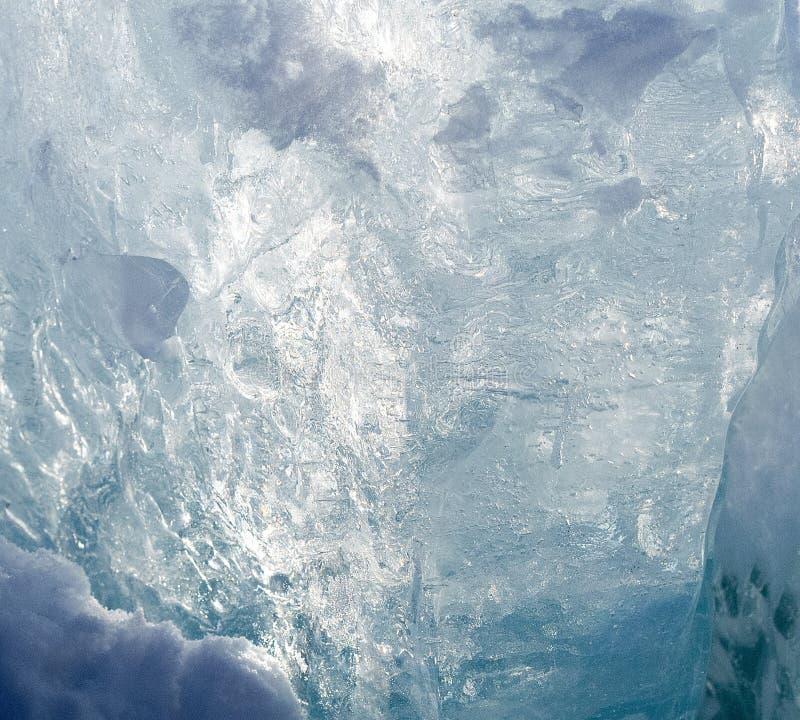 Eisoberfläche in der Hintergrundbeleuchtung stockbilder