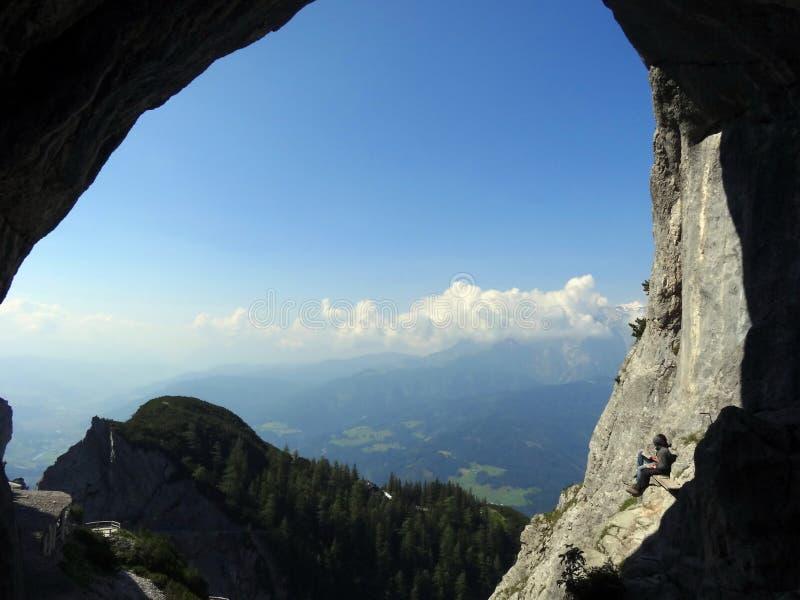 Eisriesenwelt, Oostenrijk stock afbeelding