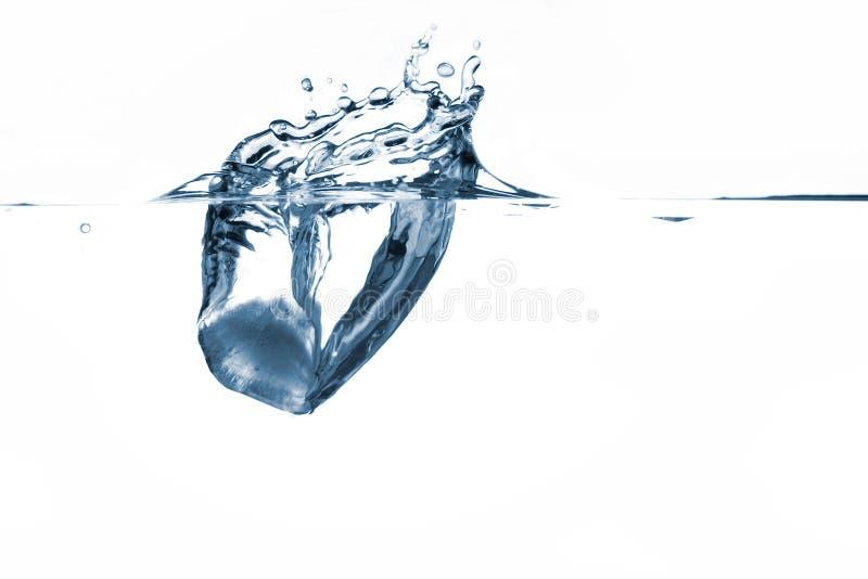 Eisspritzen stockfoto