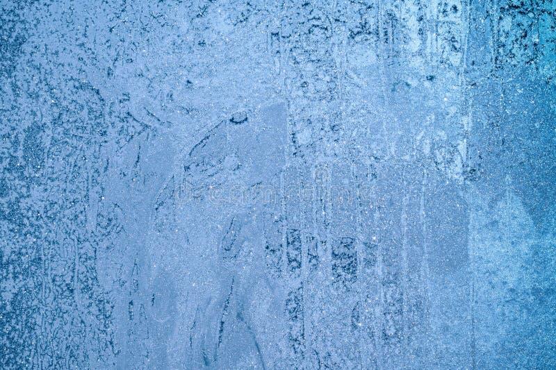 Eisstruktur in der Nähe, Wintereinrichtung lizenzfreies stockfoto