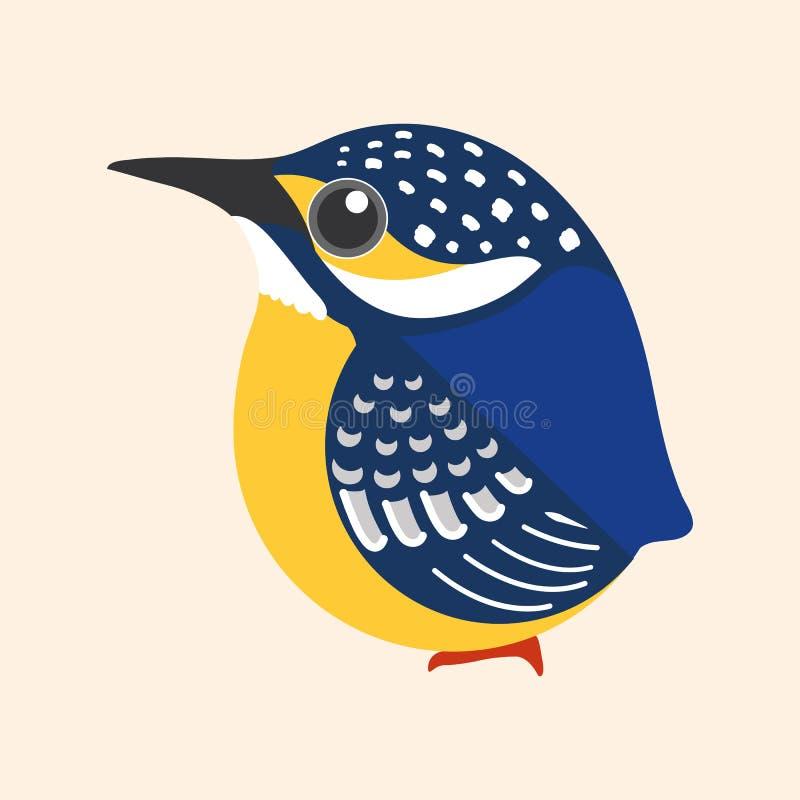 Eisvogelkarikaturvektor, allgemeiner Eisvogelvogel-Karikaturvektor stock abbildung