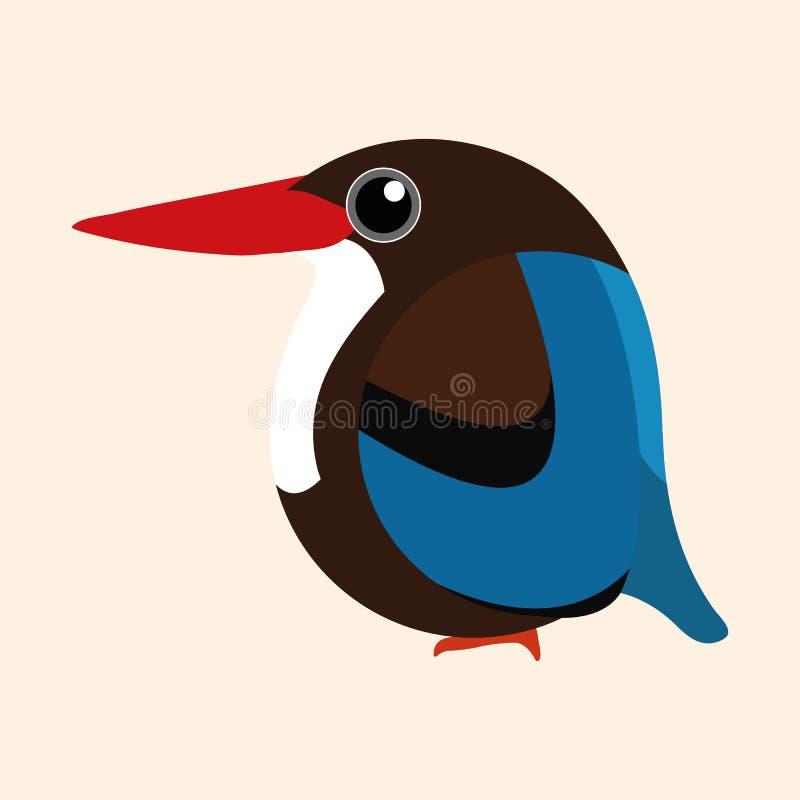 Eisvogelkarikaturvektor, weiß-throated Eisvogelkarikaturvektor lizenzfreie stockfotos