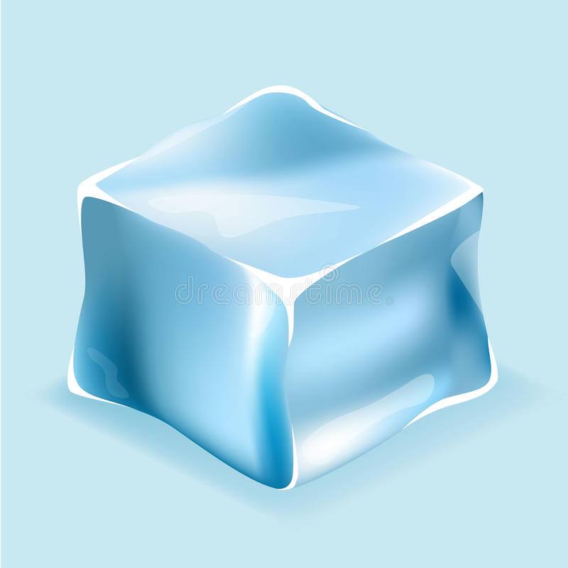 Eiswürfel in den blauen Farben vektor abbildung