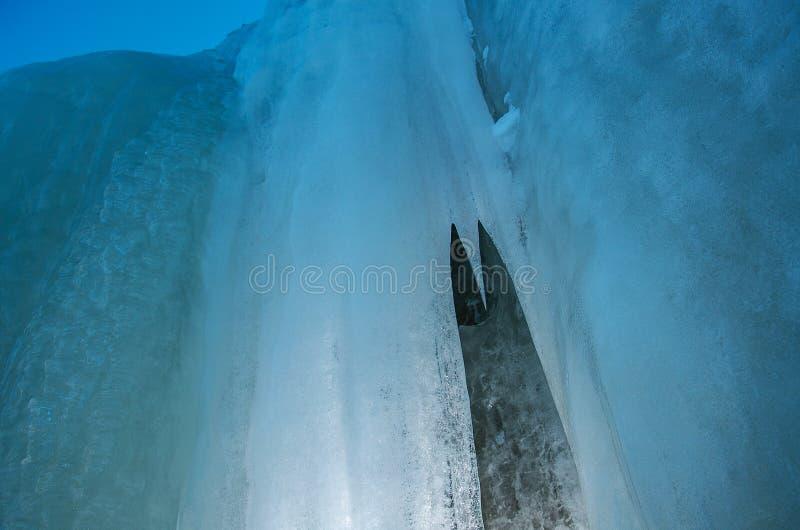 Eiswand lizenzfreie stockfotografie