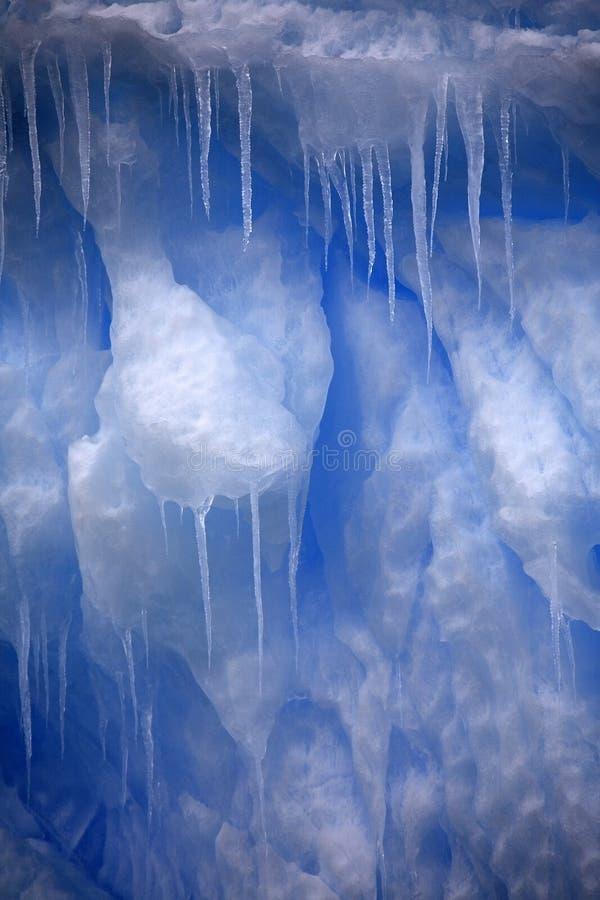 Eiszapfen in der Antarktis lizenzfreies stockbild